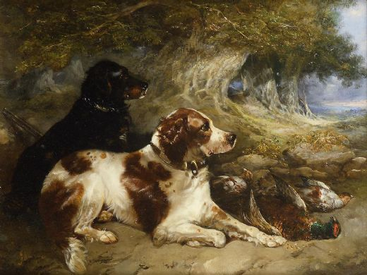 george armfield gundogs with game paintings