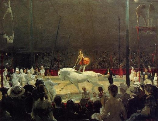 George Bellows The Circus Painting Amp George Bellows The