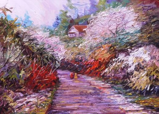 george gallo a walk in springtime paintings