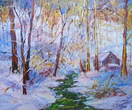 george gallo emerald stream painting