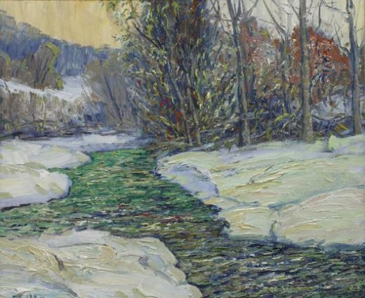 george gallo trout stream paintings