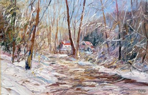 george gallo winter sunlight paintings