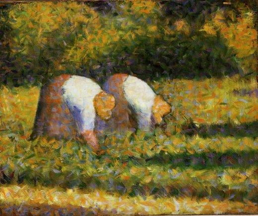 georges seurat farm women at work painting