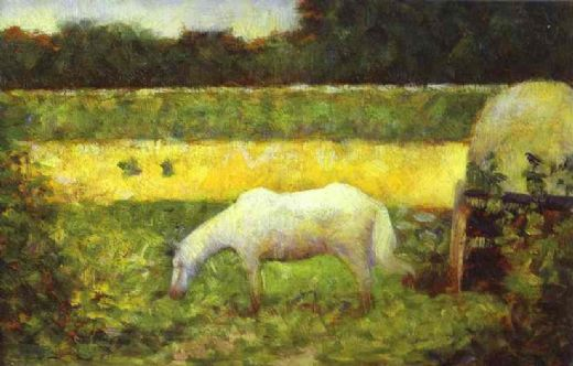 georges seurat landscape with a horse paintings