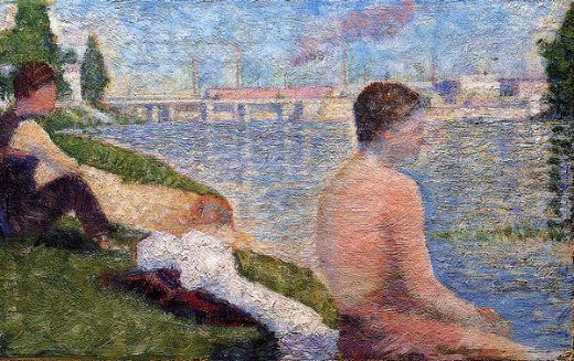 georges seurat seated bather painting