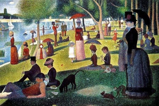 georges seurat sunday afternoon on the island of la grande jatte paintings
