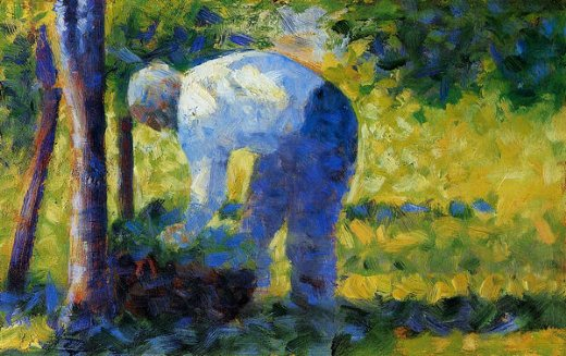 georges seurat the gardener painting