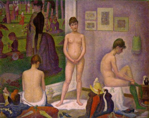 georges seurat the models paintings