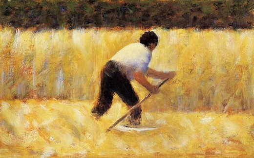 georges seurat the mower painting