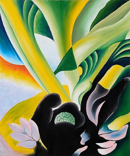 georgia o keeffe skunk cabbage paintings