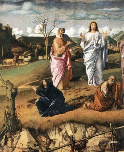 giovanni bellini transfiguration of christ detail ii painting