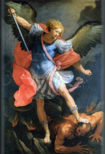 guido reni archangel michael painting