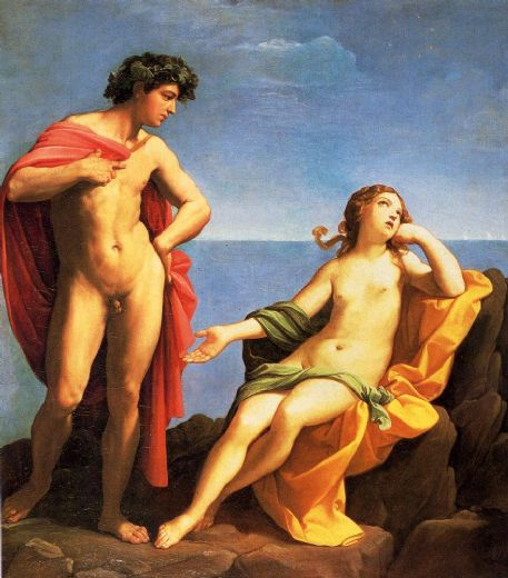 guido reni bacchus and ariadne painting