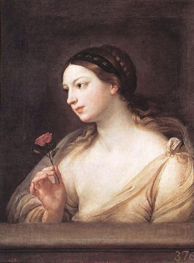 guido reni girl with a rose prints