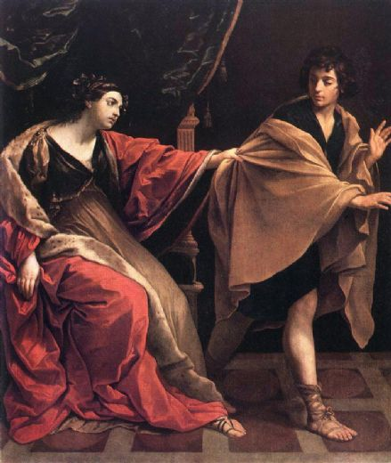 guido reni joseph and potiphars wife painting