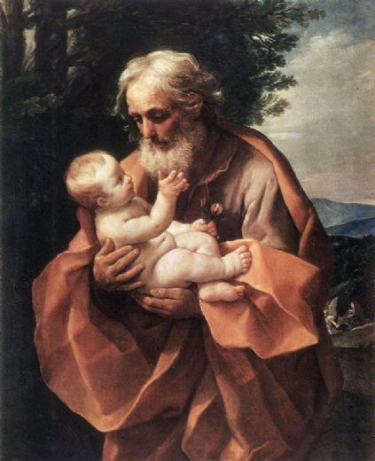 guido reni st joseph with the infant jesus prints