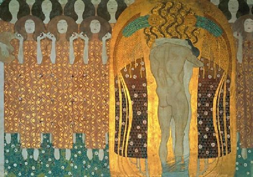 Gustav klimt beethoven frieze painting gustav klimt for Gustav klimt original paintings for sale