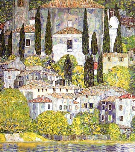 Gustav klimt chiesa a cassone sul garda painting gustav for Gustav klimt original paintings for sale