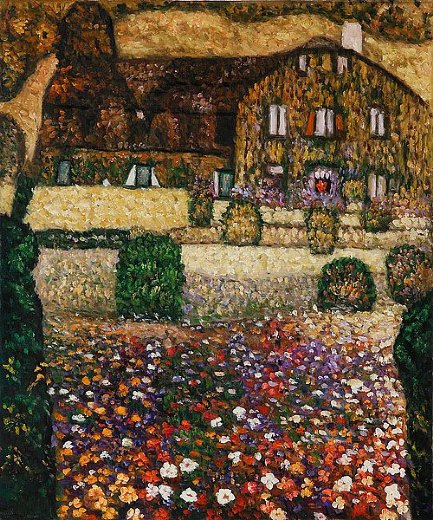 Country house by the attersee painting gustav klimt for Gustav klimt original paintings for sale
