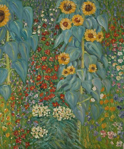 Farm garden with sunflowers ii painting gustav klimt for Gustav klimt original paintings for sale