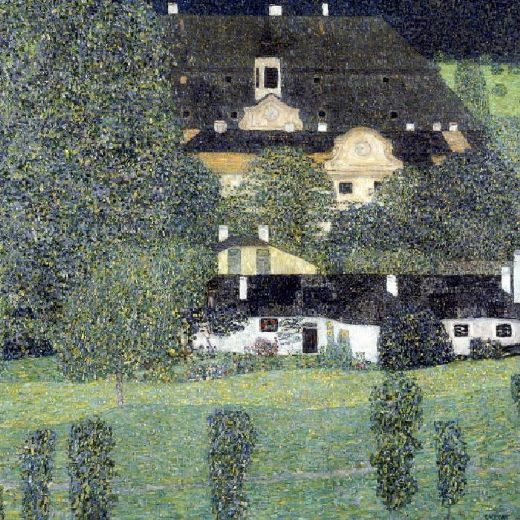 Gustav klimt schloss kammer am attersee ii painting for Gustav klimt original paintings for sale