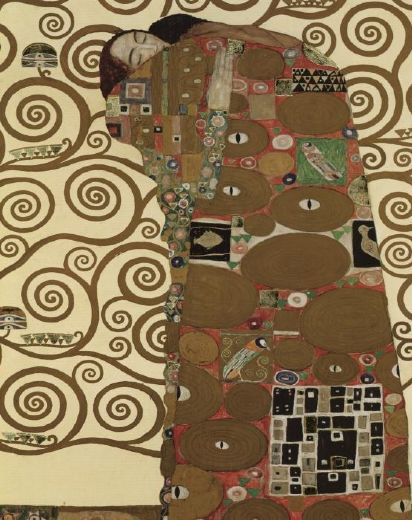 The fulfillment detail i painting gustav klimt the for Gustav klimt original paintings for sale