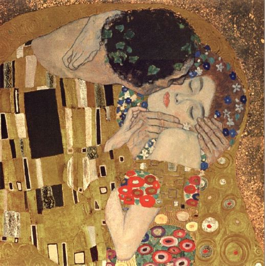 Gustav klimt the kiss detail painting gustav klimt the for Gustav klimt original paintings for sale