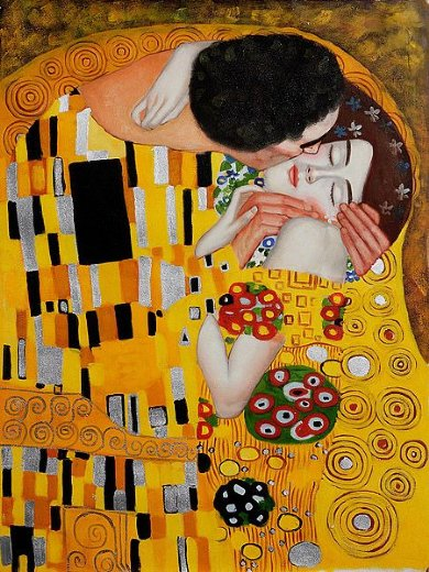 Gustav klimt the kiss ii painting gustav klimt the kiss for Gustav klimt original paintings for sale