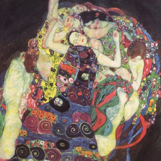 gustav klimt the virgins (le vergini) paintings