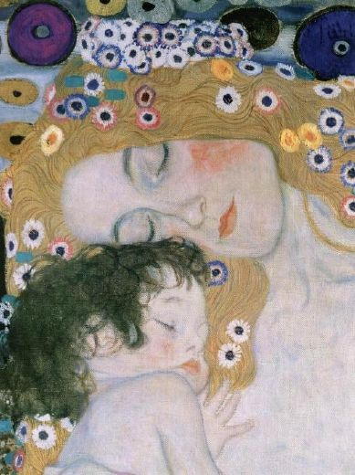 gustav klimt three ages of woman mother and child (detail iii) paintings