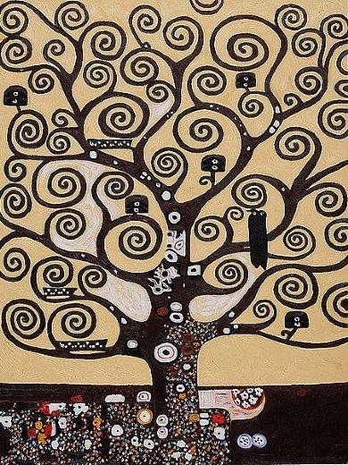 gustav klimt tree of life ii oil paintings & gustav klimt tree of ...