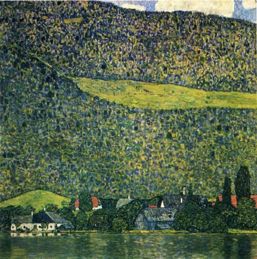 Gustav klimt unterach am attersee painting gustav klimt for Gustav klimt original paintings for sale