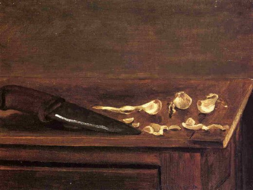 Gustave Caillebotte Garlic Cloves And Knife On The Corner Of A Table  Paintings