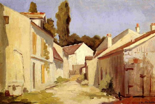 gustave caillebotte yerres close of the abbesses oil painting