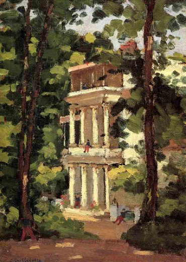 gustave caillebotte yerres colonnade of the casin painting