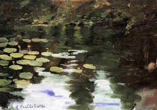 gustave caillebotte yerres on the pond water lilies painting