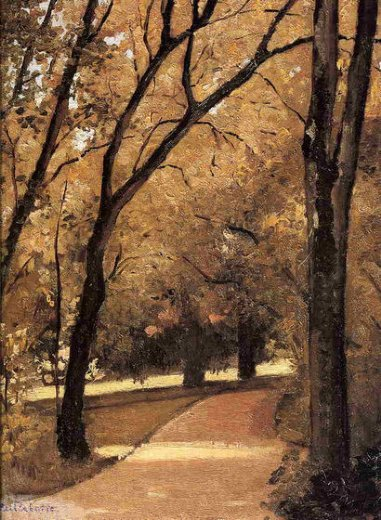 gustave caillebotte yerres path through the old growth woods in the park painting