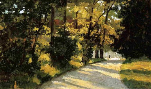 gustave caillebotte yerres path through the woods in the park painting