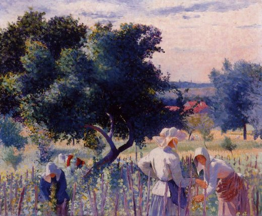 henri edmond cross femmes liant la vigne oil painting
