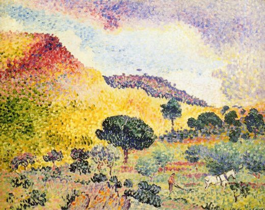 henri edmond cross la chaine des maures paintings