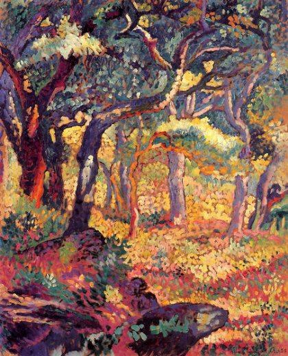 henri edmond cross study for the clearing painting