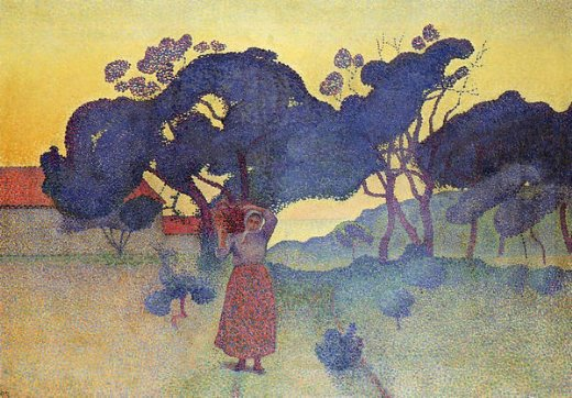henri edmond crossthe farm evening Painting-32465