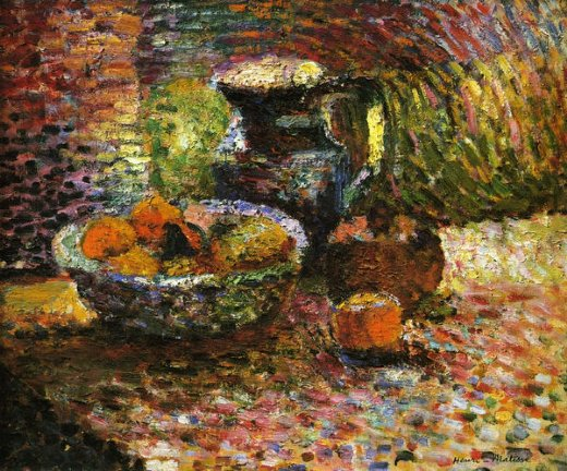 henri matisse still life with pitcher and fruit painting
