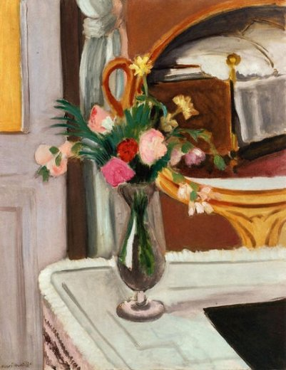henri matisse the bed in the mirror paintings