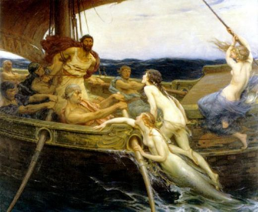 herbert james draper ulysses and the sirens painting