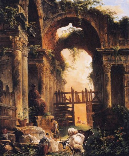 hubert robert roman ruins paintings