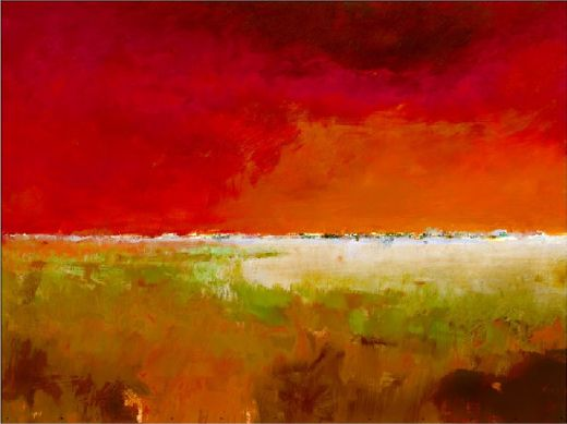 jan groenhart incredibly red painting