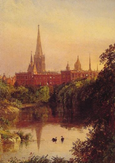 jasper francis cropsey a view in central park painting
