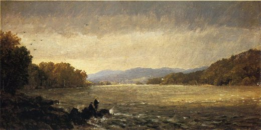 jasper francis cropsey a view upstream painting