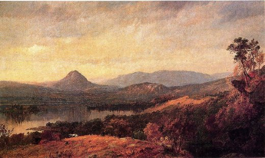 jasper francis cropsey adam and eve mountains painting
